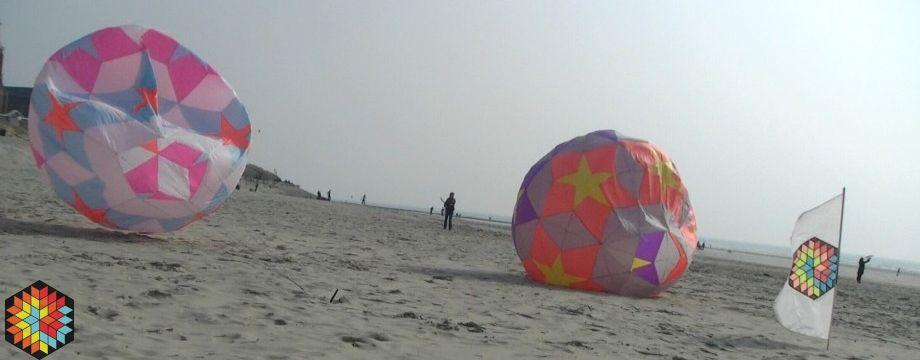 Gros ballon 2M de hauteur sur la plage :)